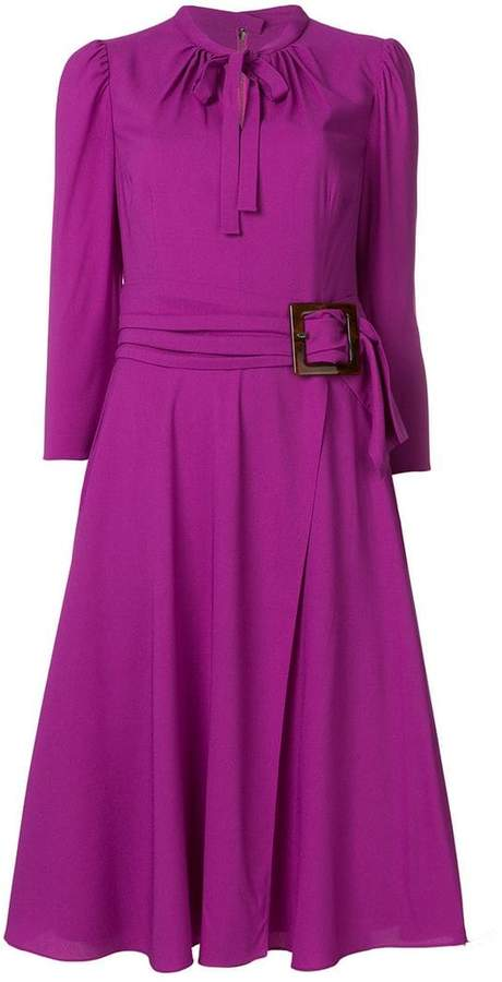 Dolce & Gabbana belted waist midi dress