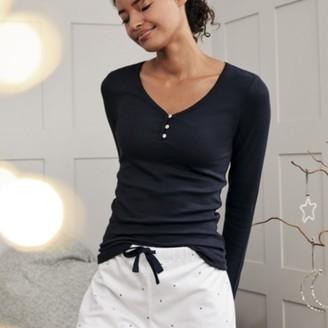 The White Company Moon-&-Star-Print Pyjama Shorts , White Navy, Extra Small
