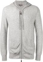 N.Peal zip up hoodie - men - Cashmere - M