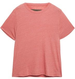 Enza Costa Slub Cotton-blend Jersey T-shirt