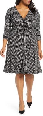 Leota Perfect Jersey Faux Wrap Dress