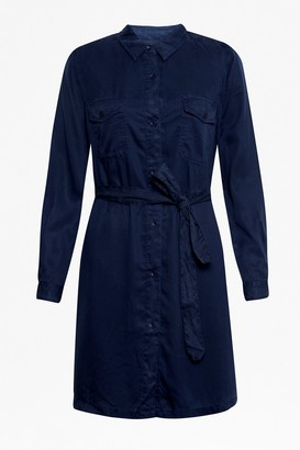 French Connection Tandy Lyocell Short Shirt Dress
