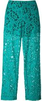 MSGM semi-sheer lace trousers - women - Cotton/Polyamide/Polyester - 42