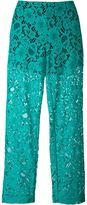 MSGM semi-sheer lace trousers - women - Polyester/Polyamide/Cotton - 42