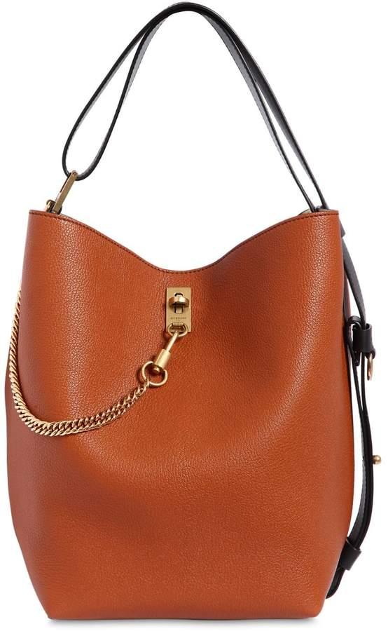 Givenchy Gv Grained Leather Bucket Bag
