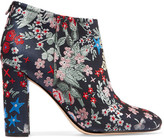 Sam Edelman Cambell Floral-brocade Ankle Boots - Gray