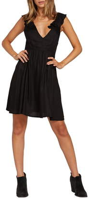 Volcom Day Day Ruffle Strap Minidress
