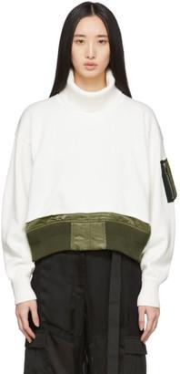 Sacai Off-White Knit Collar Sweater
