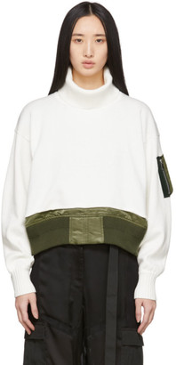 Sacai Off-White Knit Crop Sweater