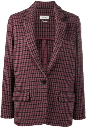 Etoile Isabel Marant Long-Sleeved Check Pattern Blazer