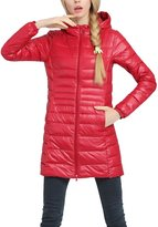 Lukitty Women's Hooded Packable Down Coat Lightweight Long Puffer Jacket Parka XL