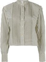 Loewe mandarin neck striped shirt - women - Cotton - 38