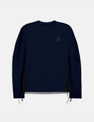 Coach Ribbed Knit Sweater