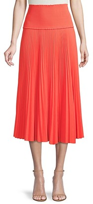 A.L.C. Smocked Pleated Skirt