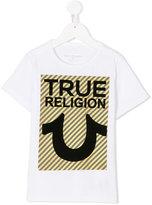 True Religion flocked T-shirt