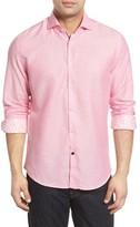 Stone Rose Men's Trim Fit Diamond Twill Sport Shirt