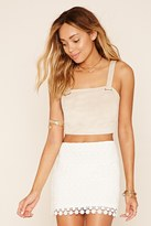 Forever 21 FOREVER 21+ Crochet Mini Skirt