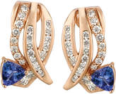 LeVian Le Vian Tanzanite (3/4 ct. t.w.) and Diamond (3/4 ct. t.w.) Earrings in 14k Rose Gold