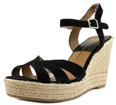 Dolce Vita Tracey Open Toe Suede Wedge Sandal.