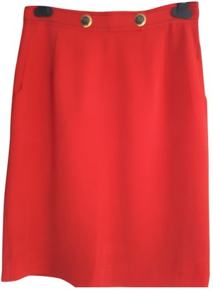 Burberry Red Skirt for Women Vintage