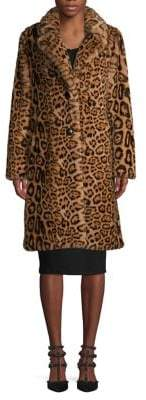 Gallery Leopard-Print Faux-Fur Coat