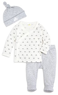 Bloomie's Unisex Take Me Home Shirt, Footie Pants & Hat Set - Baby