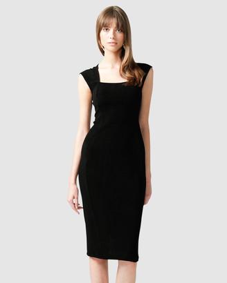 Sacha Drake Iris Cap Sleeved Dress