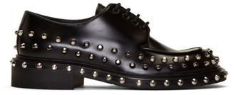 Prada Black Studded Derbys