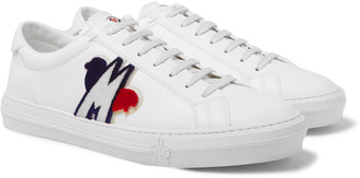Moncler New Monaco Logo-Appliqued Leather Sneakers