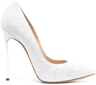 Casadei Blade lace-embellished pumps