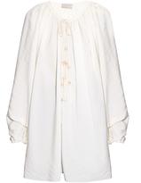 Lanvin Tie-fastening crepe blouse