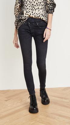 R 13 Cross Over Skinny Jeans