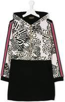 Roberto Cavalli leopard tracksuit dress