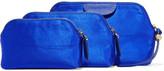 Diane von Furstenberg Set Of Three Satin Pouches - Blue