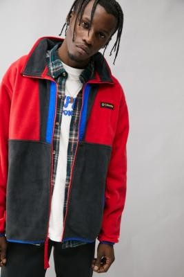 Columbia Red & Black Back Bowl Fleece - Red S at Urban Outfitters