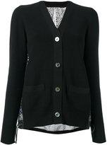 Sacai crochet print eyelet lace back cardigan - women - Cotton/Polyester - 2