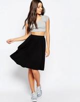 Asos Midi Skater Skirt in Jersey