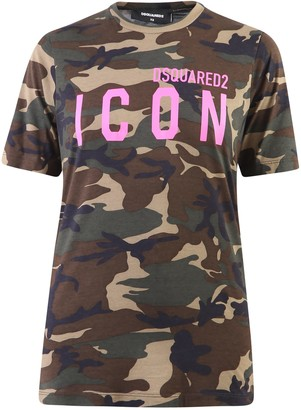 DSQUARED2 Camouflage Print T-shirt