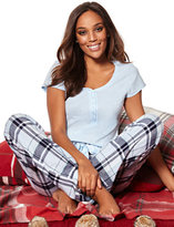 New York & Co. 2-Piece Pajama Set - Blue Plaid