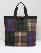 Asos Tote Bag In Patchwork Check Design