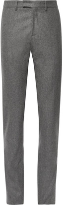 Salle Privée Grey Rocco Slim-Fit Melange Wool-Flannel Suit Trousers