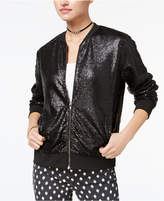 Say What Juniors' Sequinned Bomber Jacket