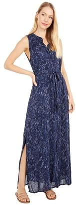Bella Dahl Short Sleeve Pleat Front Maxi Dress (Desert Night) Women's Dress