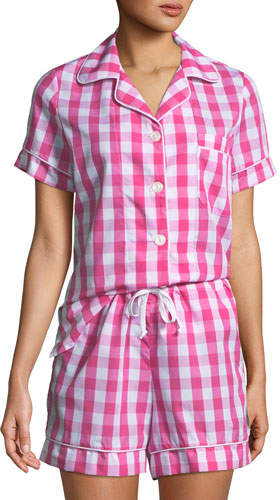BedHead Plus Size Gingham Shorty Pajama Set