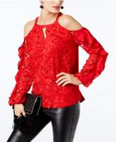 INC International Concepts Lace Cold-Shoulder Top, Created for Macy's