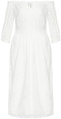 City Chic Precious Detail Dress - ivory