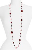Long Strand Semiprecious & Crystal Necklace