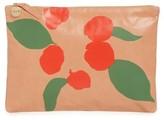 Clare Vivier Bougainvillea Leather Clutch - Pink
