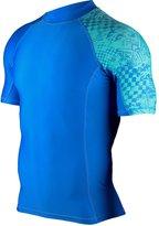 Hugesports Men's Splice UV Sun Protection UPF 50+ Crew Neck Skins Rash Guard XLarge Short Sleeves