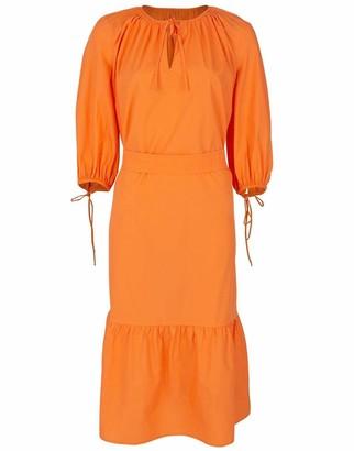 MDS Stripes Orange Garden Dress